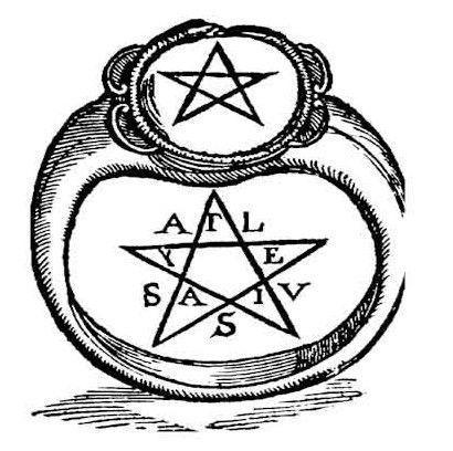 Bague Magique  Pour la Protection Occulte